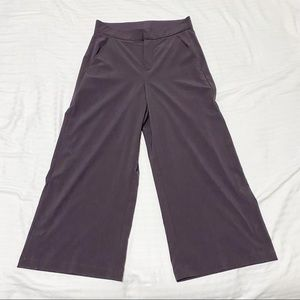 Freedom Trail By Kyodan High Rise Wide Leg Snap Button Hem Trouser, Purple XS